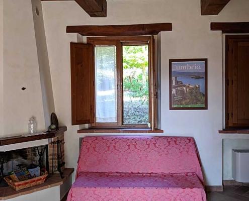 homemade living room in farmhouse