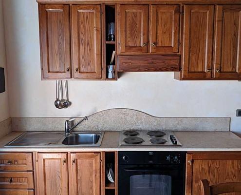 Homemade kitchen in farmhouse